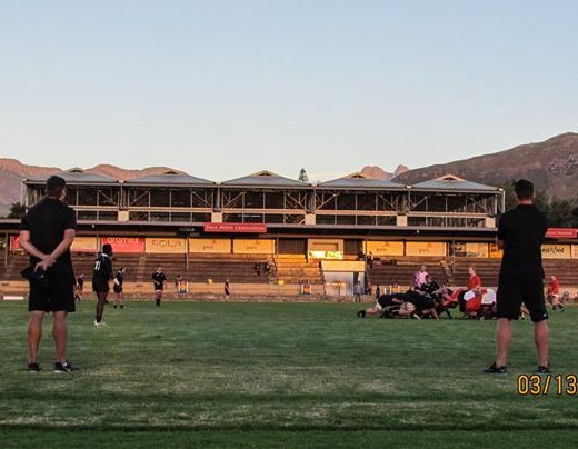 Coaches looking on during the first chukka warm up match against the Maties Young…