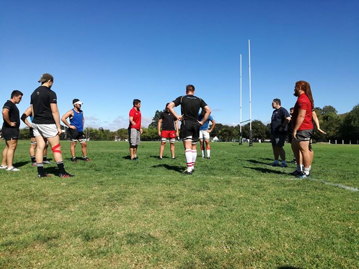 Monday line-out session with coaches Phil Davies and Ernst Joubert. #sasri #sastraining #sasrugby