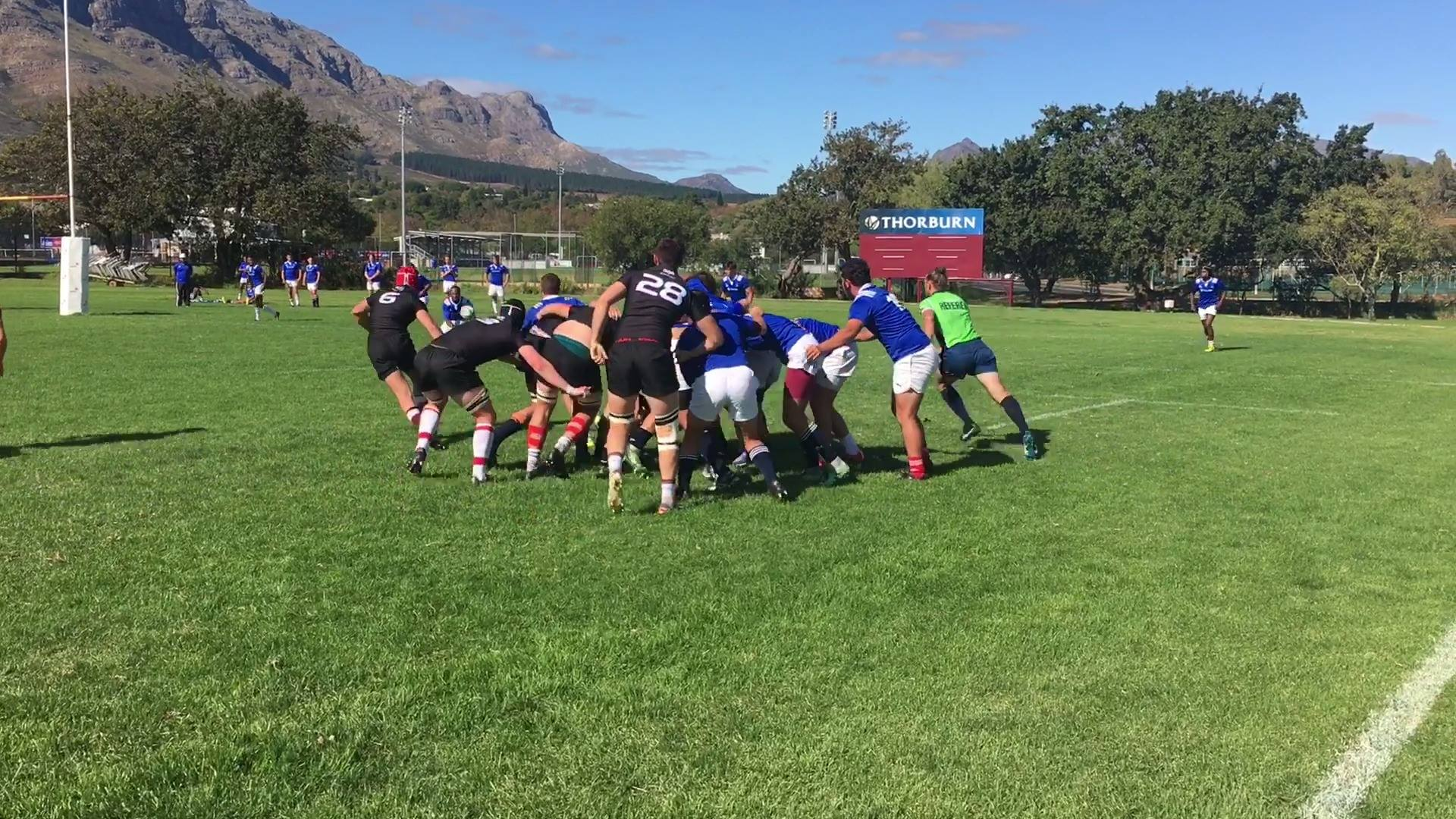 Some highlights from the SAS Rugby International Institute's match against Western Province Rugby Academy.…