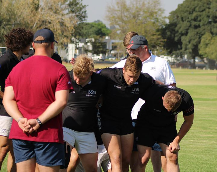 Friday scrum session with Jacques Hanekom