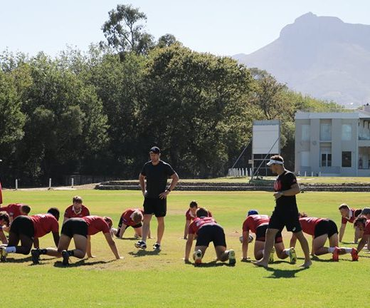 The #sasrii forwards focused on core strength and activation with Johan van Wyk. Ernst…