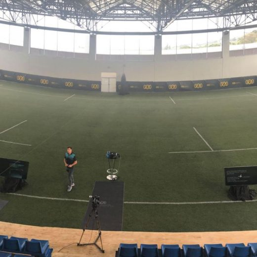 The SAS indoor looking great for our SAS Rugby Coaches Seminar!