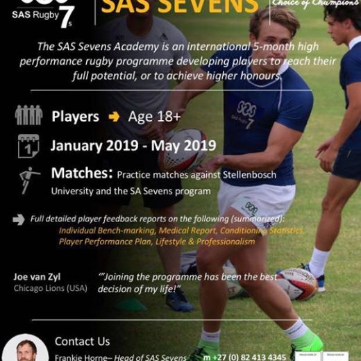 There are limited places still available for our SAS SEVENS programme in 2019. So…